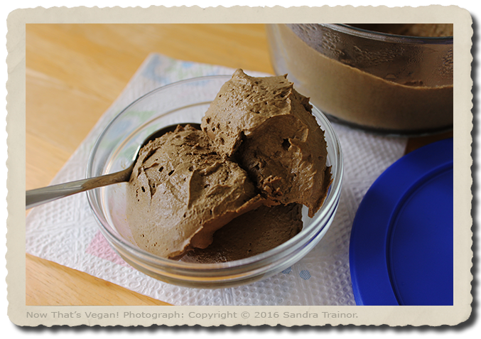 A creamy vegan chocolate mousse.