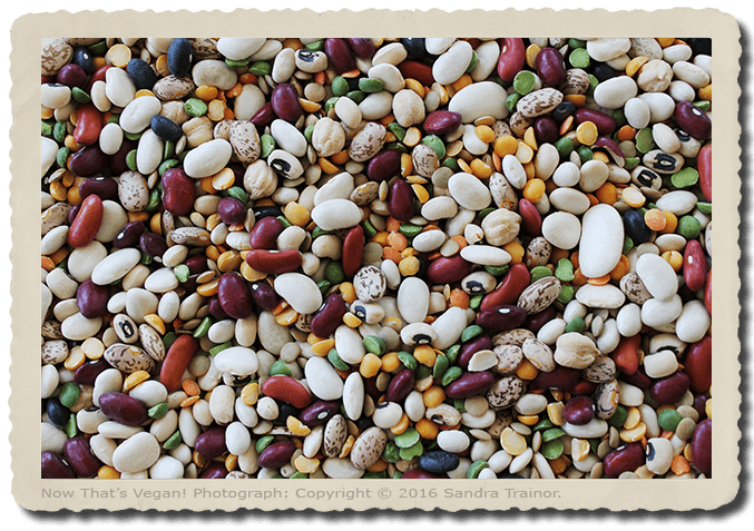 A variety of dried beans.