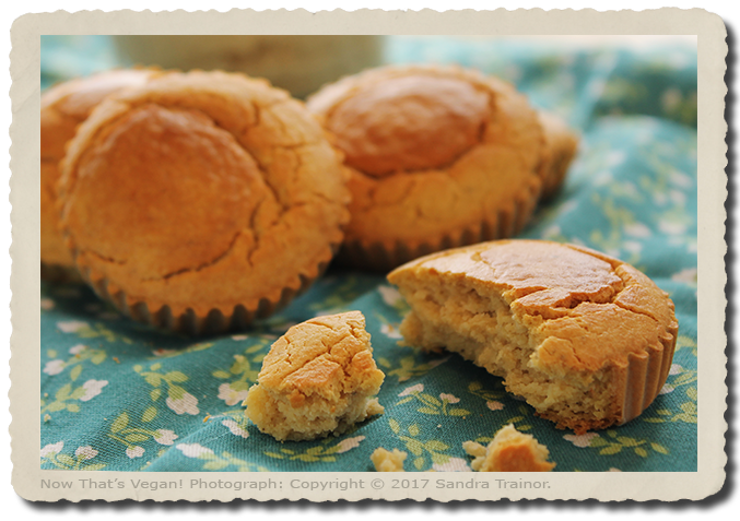 A recipe for corn muffins that are vegan and gluten-free.