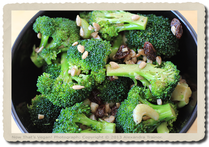 Broccoli is a source of protein.