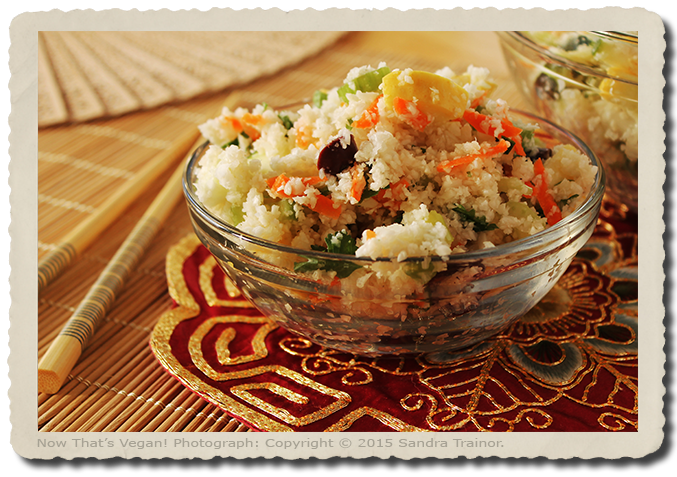 A grain-free recipe for cauliflower rice.