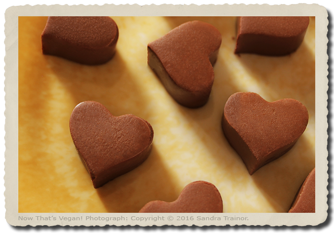 A recipe for chocolate Valentine's Day candies.