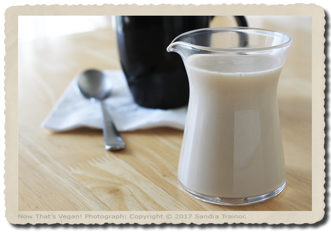 A nondairy creamer that's easy to make.