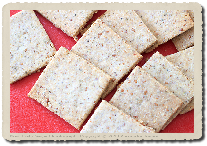 These flax seed crackers are gluten-free.