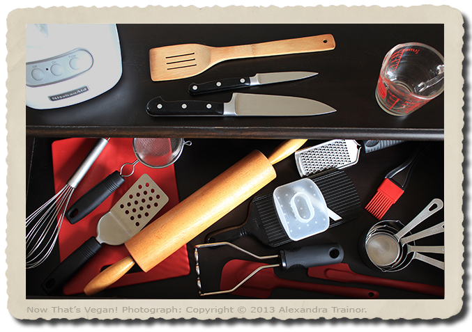 Kitchen gadgets and small appliances.