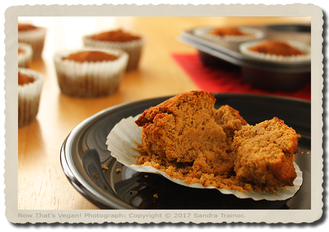 Vegan and gluten-free Muffins made with pumpkin purée.