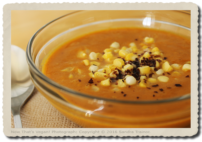 A spicy chowder made with corn.