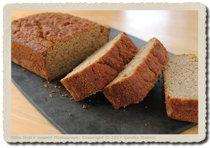 A vegan and gluten-free zucchini bread.