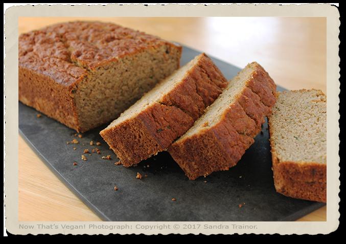 A vegan and gluten-free zucchini bread.