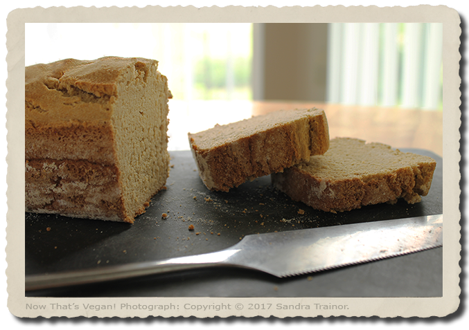 A gluten-free and vegan sandwich bread.