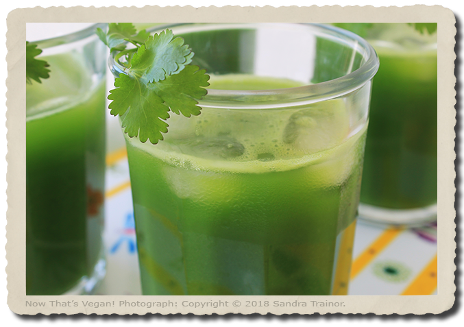 A green juice that's loaded with nutrients.