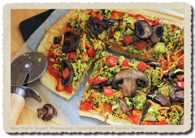 A vegan and gluten-free pizza.